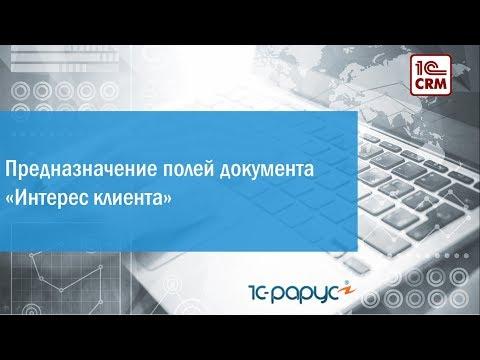 3.1 Предназначение полей документа «Интерес клиента»