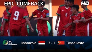 Video FULL HIGHLIGHTS INDONESIA U16 vs TIMOR LESTE U16 | AFC U16 CHAMPIOSHIP MP3, 3GP, MP4, WEBM, AVI, FLV Mei 2018