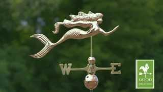 Mermaid Weathervane - Polished Copper - Good Directions