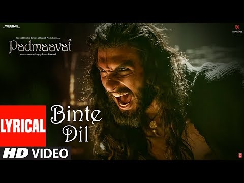 Video Padmaavat: Binte Dil Lyrical | Arijit Singh | Deepika Padukone | Shahid Kapoor | Ranveer Singh download in MP3, 3GP, MP4, WEBM, AVI, FLV January 2017