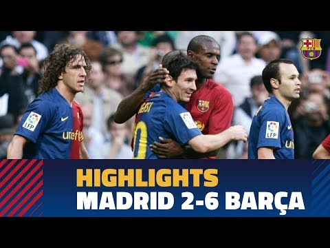REAL MADRID 2-6 BARÇA   Match highlights 2008/09
