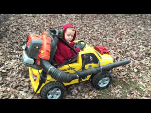 This Guy nbsp Attaches Leaf Blower to Son s Power Wheels