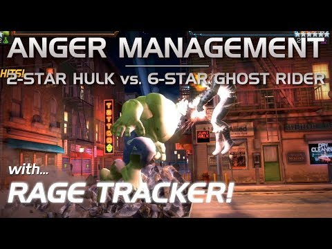 Anger Management: 2-Star Hulk Vs. 6-Star Ghost Rider (w/ Rage Tracker) | Marvel Contest Of Champions