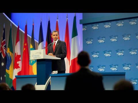 G 20 - The President briefs the press on progress made at the G-20 summit in Pittsburgh, Pennsylvania. September 25, 2009. (Public Domain)