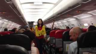 Video Funniest safety briefing ever with sexy Thai flight attendant!!! Air Asia AK-1922 MP3, 3GP, MP4, WEBM, AVI, FLV Juni 2018