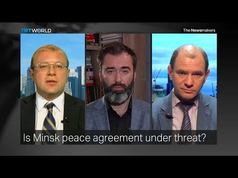 Peter Zalmayev (Залмаев) and Ukr Amb to Canada Shevchenko discuss unrest in East Ukraine. TRT World