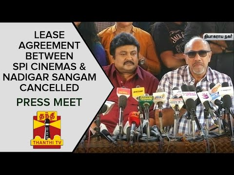 Lease Agreement between SPI Cinemas and Nadigar Sangam Cancelled   Press Meet  News 08 02 2016 ThanthiTv Episode Online