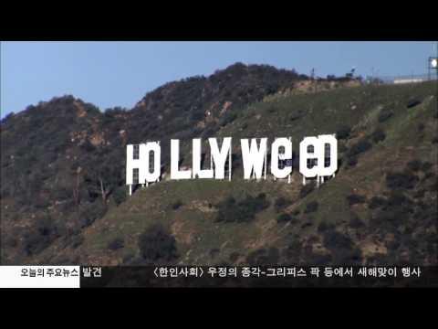 새해 첫날 할리'위드' 간판 소동  01.02.17 KBS America News