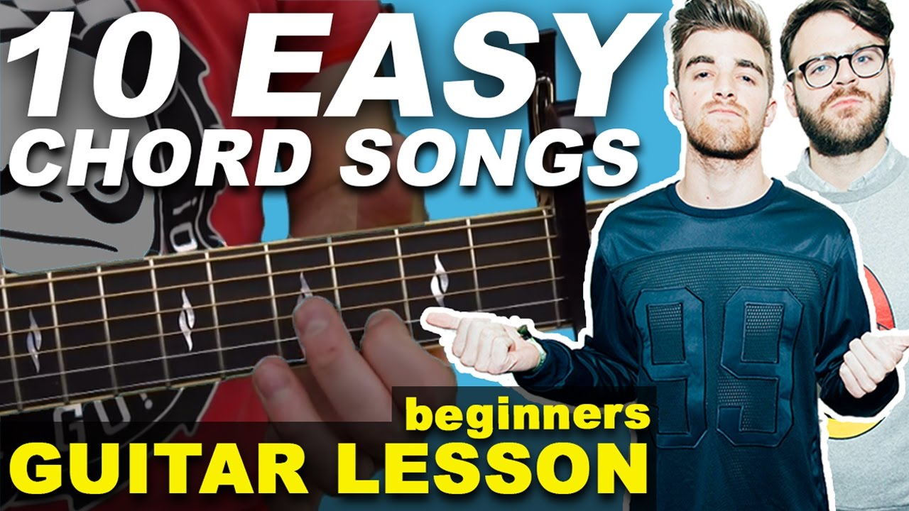 Learn 10 Easy Pop Songs with CHORDS (2016) Beginners Guitar Lesson