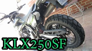 10. KLX250SF Oil Change and Chain Lube