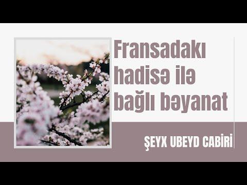 Şeyx Ubeyd əl-Cabiri - Fransadakı hadisə ilə bağlı bəyanat