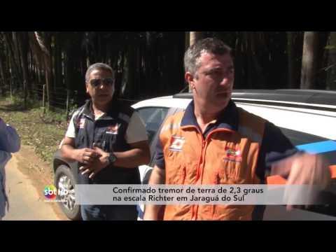 Confirmado tremor de terra de 2,3 graus em Jaraguá do Sul