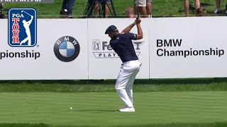 Bryson DeChambeau drives green to set up eagle at BMW Championship 2019 by PGA TOUR