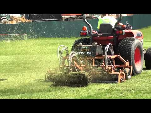 Football Field Dethatching service - Sports Turf m