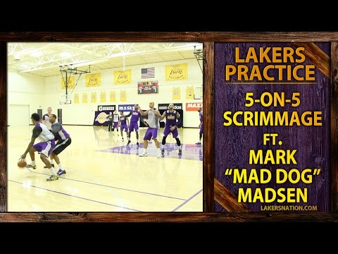 footage - Check out some Lakers 5-on-5 practice scrimmage footage, with Mark