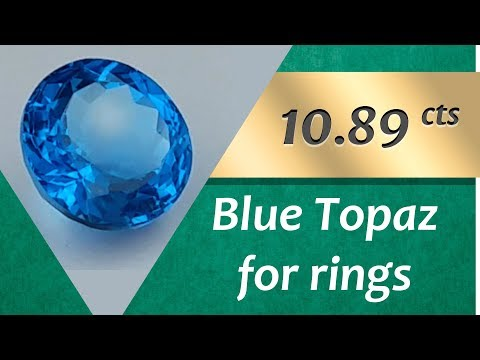 Blue Topaz Rings: Design Unique Rings with Blue Topaz 10.89 Carats