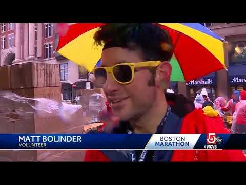 Runners, spectators brave weather for Boston Marathon