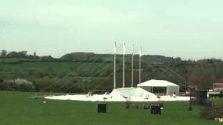 Time Lapse Construction of an 80ft wide Traditional Marquee for