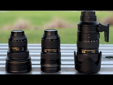 Nikon Holy Trinity of lenses