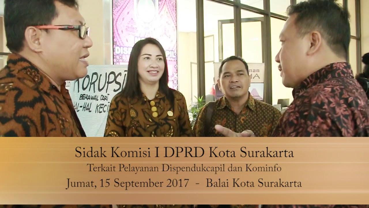 Jumat 15 September 2017 Sidak Komisi I Pelayanan Dispendukcapil & Kominfo