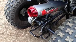 6. 2014 Polaris Outlaw 90cc with Big Gun Mini Evo Exhaust!