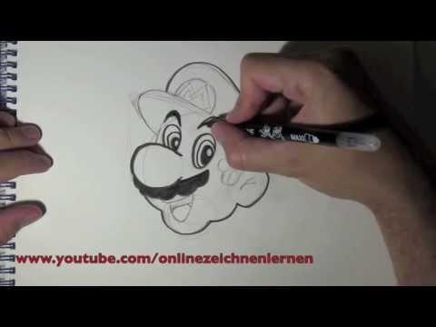 Wie zeichnet man Mario Bros – Super Mario Zeichnung – Online Zeichnen Lernen