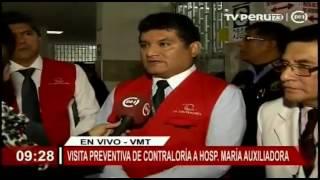 Visita preventiva de Contraloría a Hospital María Auxiliadora