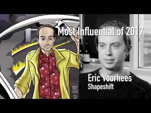 CoinDesk's Most Influential in Blockchain 2017 - Erik Voorhees video