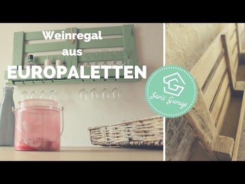 Weinregal aus Paletten | Palettenmöbel | DIY | Upcycling | How to | Weinregal Europaletten | bauen