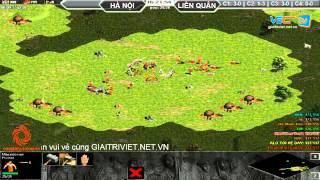 4vs4 Hà Nội, vs Liên Quân, 29/8/2015, - C4T1, game đế chế, clip aoe, chim sẻ đi nắng, aoe 2015