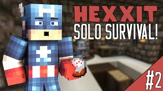 Minecraft - Hexxit Solo Survival [2] - THE MYSTERY CAKE!? (Hexxit V3)
