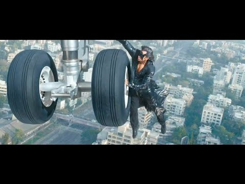 Krrish3 hrithik roshan flight or helicopter action scence