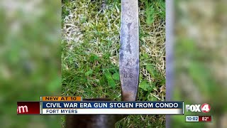 Bayonet swiped from home during open house