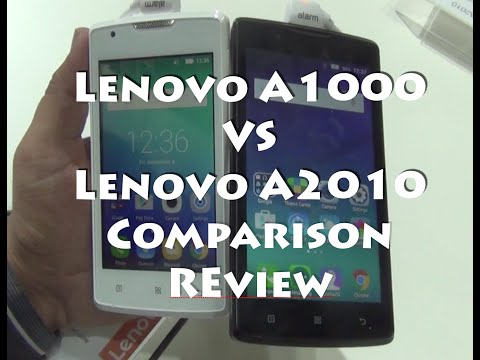 Lenovo A1000 VS Lenovo A2010 Comparison Overview