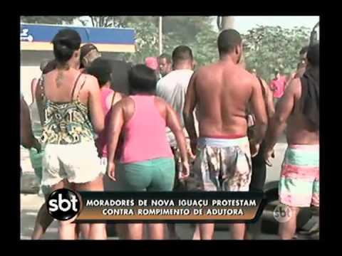 Adutora rompe em Nova Iguaçu