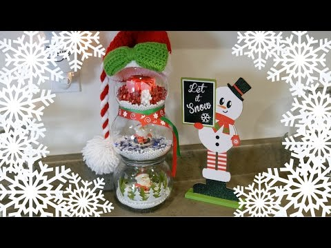 diy fishbowl snowman dollar tree 99 cent store thrift store christmas decor - 99 Cent Store Christmas Decorations