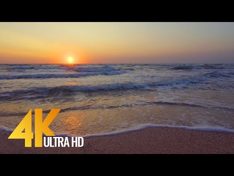 Sunrise over the Sea of Azov, Ukraine - 4K Relaxation Video perfect for Sleep & Destress - 3 HRS