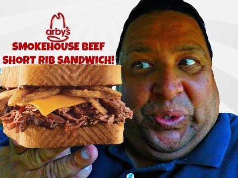 ARBY'S® SMOKEHOUSE BEEF SHORT RIB SANDWICH REVIEW!