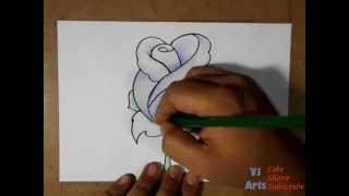 Video How to Draw a Beautiful Rose Flower How to Color A Rose MP3, 3GP, MP4, WEBM, AVI, FLV Juni 2018