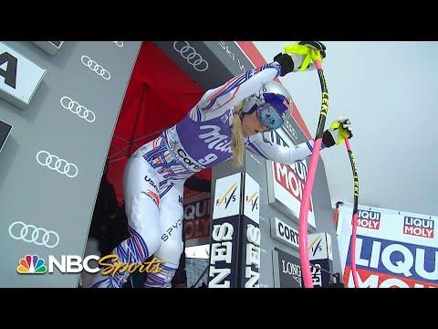 Lindsey Vonn's downhill run at Cortina d'Ampezzo | NBC Sports
