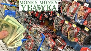 CRAZY GUY FINDS $300.00! BUYS WWE TOYS WITH STOLEN MONEY AT WA...