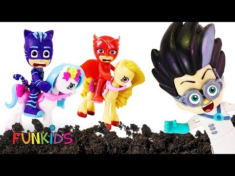 Pj Masks Playing With MUD & Sleeping Potion ❤ with My Little Pony