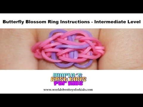Rainbow Loom Rubber Band Refill – Butterfly Blossom Ring Instructions
