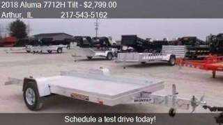 1. 2018 Aluma 7712H Tilt Aluminum Trailer for sale in Arthur, I