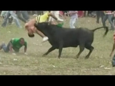 Killed - Two men have been killed and at least 15 people injured at a bullfighting festival in northern Colombia. Report by Sophie Foster. Subscribe to ITN News! http...