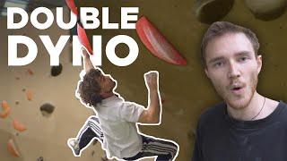 Jake & Tom vs University Comp Boulders || Double Dynos by Bouldering Bobat
