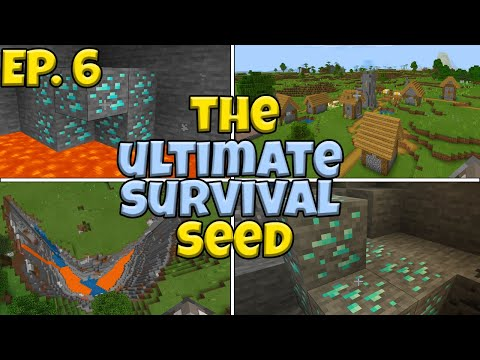 (Diamonds Everywhere) The ULTIMATE Survival Seed In Minecraft Bedrock Edition - Ep 6