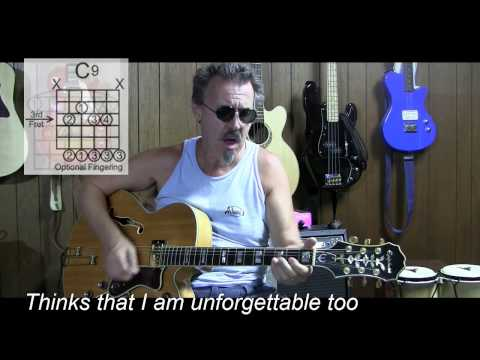 Unforgettable By Nat King Cole Cover With Lyrics & Chords - C11
