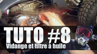 8. Entretien quad #8 Faire la vidange et changer le filtre à huile