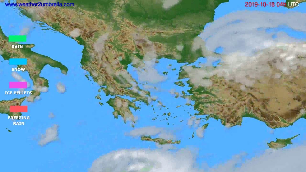 Precipitation forecast Greece // modelrun: 00h UTC 2019-10-17